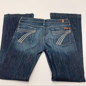 7FAM Seven for all mankind Dojo Flare Jeans 29 x32